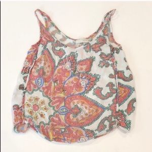 Zara Paisley Print Cropped Top
